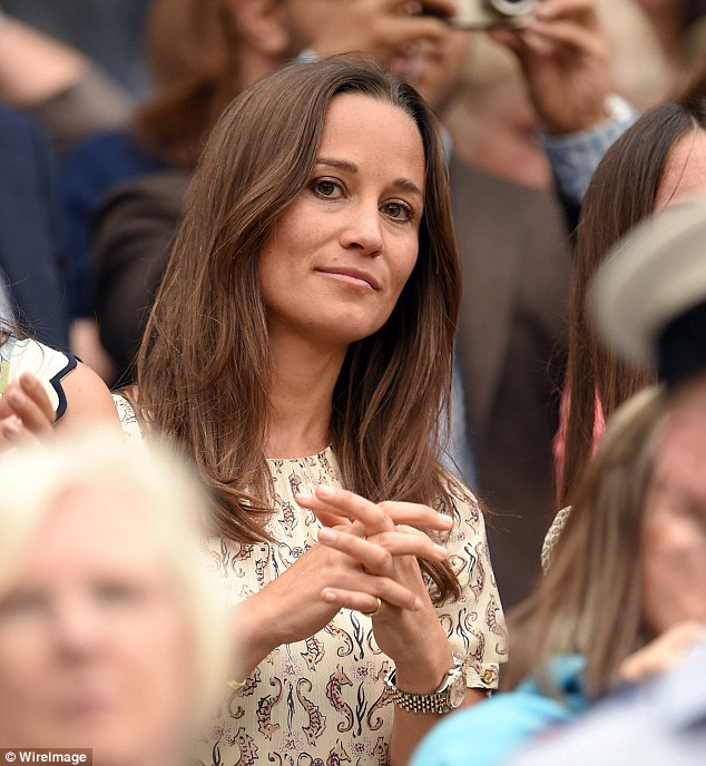 Pippa had already been a spectator at Wimbledon earlier in the week with her younger brother James, 28