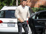 "Beverly Hills, CA - 'Batman vs. Superman' star Ben Affleck arrived at his office on Tuesday morning, bringing along his adorable German Shepherd to work with him. The oft-controversial actor/director has been going through a highly publicized divorce with his wife of 10 years, Jennifer Garner, and seems to be a bit sick of all the media attention lately. As Ben walked his dog outside, he pointed to all of the shutterbugs snapping his photo and told him to ""Get them!"" before chuckling to himself. AKM-GSI     July 14, 2015 To License These Photos, Please Contact : Steve Ginsburg (310) 505-8447 (323) 423-9397 steve@akmgsi.com sales@akmgsi.com or Maria Buda (917) 242-1505 mbuda@akmgsi.com ginsburgspalyinc@gmail.com"