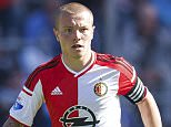 Jordy Clasie of Feyenoord during the Europa League play-offs match between Feyenoord and SC Heerenveen at the Kuip on May 24, 2015 in Rotterdam, The Netherlands(Photo by VI Images via Getty Images)