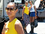 EXCLUSIVE: Jada Pinkett-Smith and daughter Willow Smith are seen at the flea market in Hollywood, California. The Magic Mike 2 star and her R&B singer daughter are seen shopping and taking pics with a plethora of fans in the area before making their exit. \n\nPictured: Jada Pinkett-Smith and Willow Smith\nRef: SPL1077713  120715   EXCLUSIVE\nPicture by: DutchLabUSA / VLUV / Splash News\n\nSplash News and Pictures\nLos Angeles: 310-821-2666\nNew York: 212-619-2666\nLondon: 870-934-2666\nphotodesk@splashnews.com\n