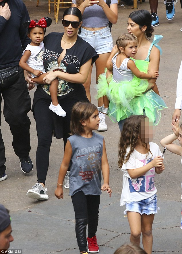 Disney enthusiasts: It was Nori's second time at the Anaheim theme park in less than a month since she had her own second birthday bash there on June 15