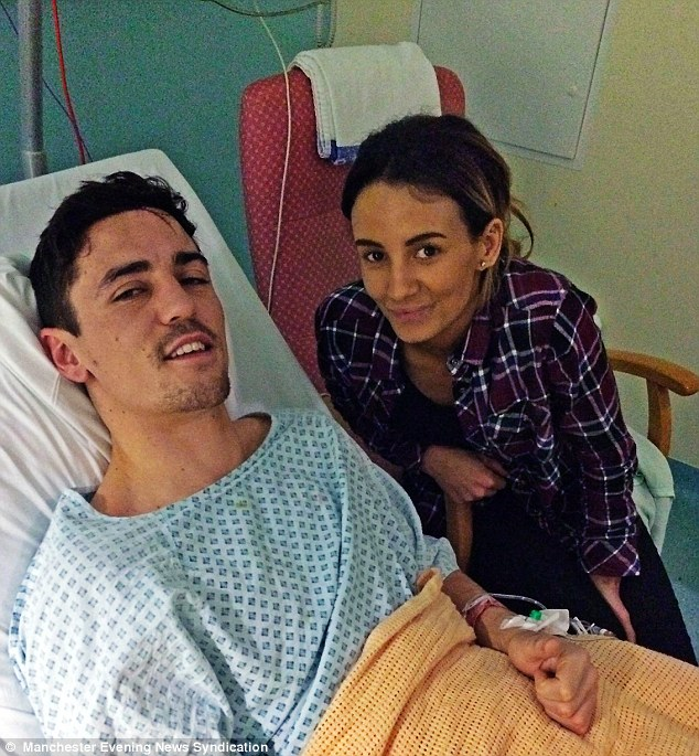Crolla was hospitalised after the attack and comforting him by his bedside was devoted girlfriend Fran