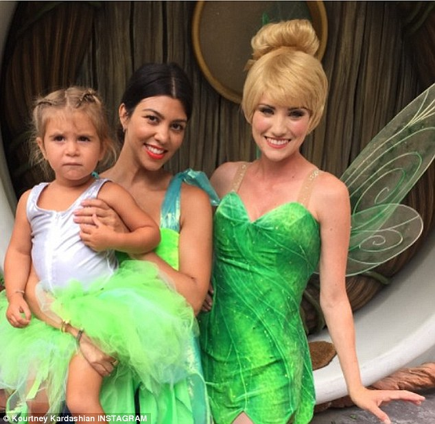 Magical: The reality star shared a photo of herself having a blast at Disneyland with her daughter Penelope on Thursday