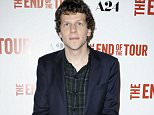 Mandatory Credit: Photo by Picture Perfect/REX Shutterstock (4901450d)  Jesse Eisenberg  'The End of the Tour' film premiere, Los Angeles, America - 13 Jul 2015