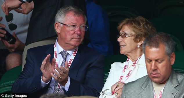 Early applause: Manchester United legend Sir Alex Ferguson enjoys a point