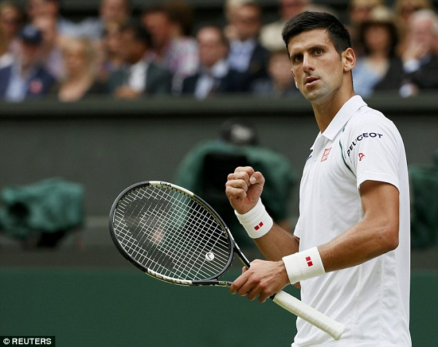 Centre stage: World number one Novak Djokovic is hungry for another Wimbledon title