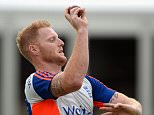 LONDON, ENGLAND - JULY 14:  Ben Stokes of England bowls during a nets session ahead of the 2nd Investec Ashes Test match between England and Australia at Lord's Cricket Ground on July 14, 2015 in London, United Kingdom.  (Photo by Gareth Copley/Getty Images)