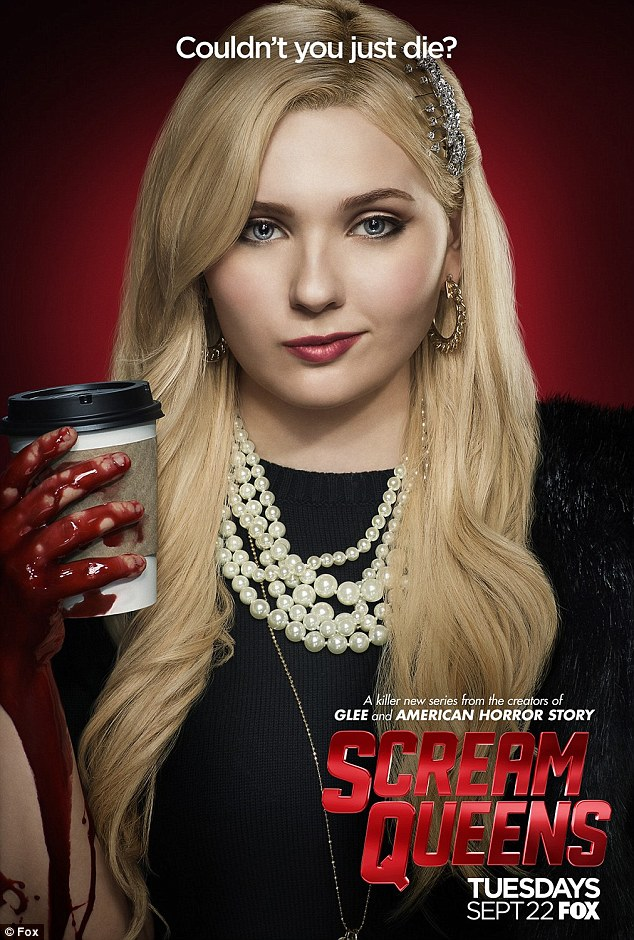 Killer instinct: Abigail Breslin puts blood all over a cup of coffee
