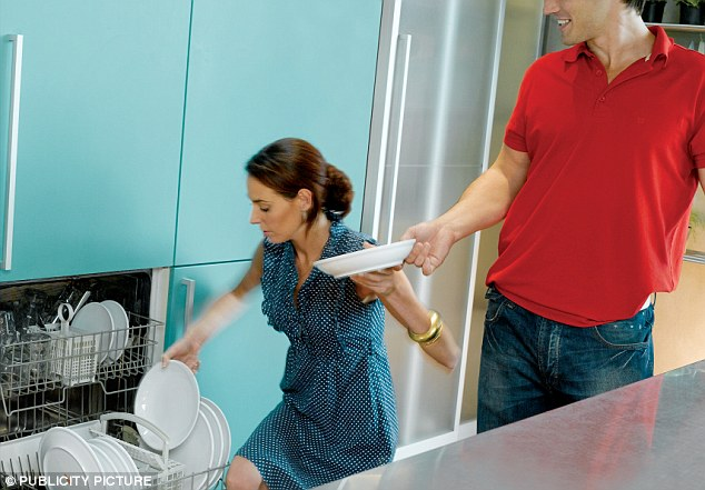 Big battle: Nearly half of couples regularly argue about how to best stack plates in the dishwasher