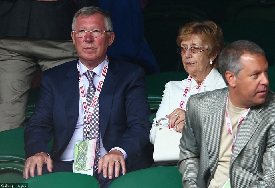 Sir Alex Ferguson (left) was one of many famous faces in attendance for Sunday's showpiece at SW19
