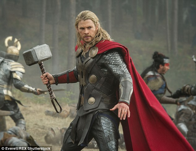 A-lister: The middle Hemsworth brother is most known for portraying Thor in the Avenger series, this year reprising the role for Age Of Ultron