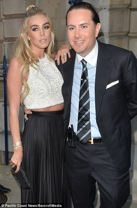 Nicky met husband James at the wedding of Petra Ecclestone and James Stunt, pictured here at Nicky and James' rehearsal dinner on Thursday