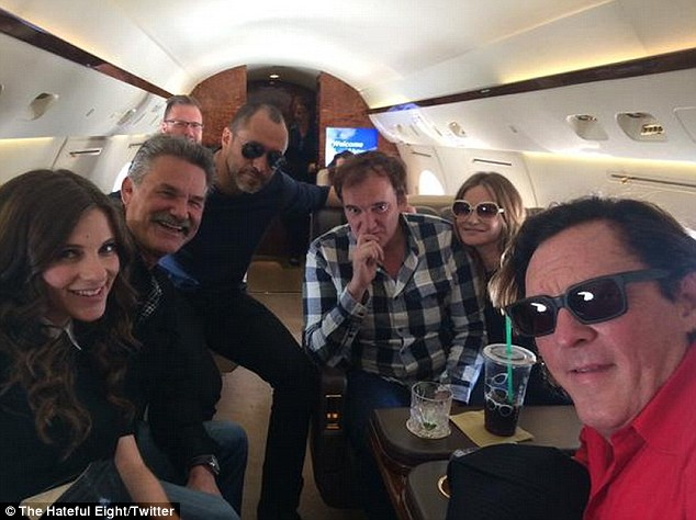 Gulfstream gang: Before the Q&A panel, Quentin and his cosy cast even shared a private jet ride to the legendary comic book convention