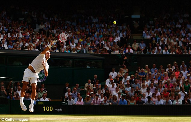 Federer served imperiously as he knocked Andy Murray out in the semi-final on Friday