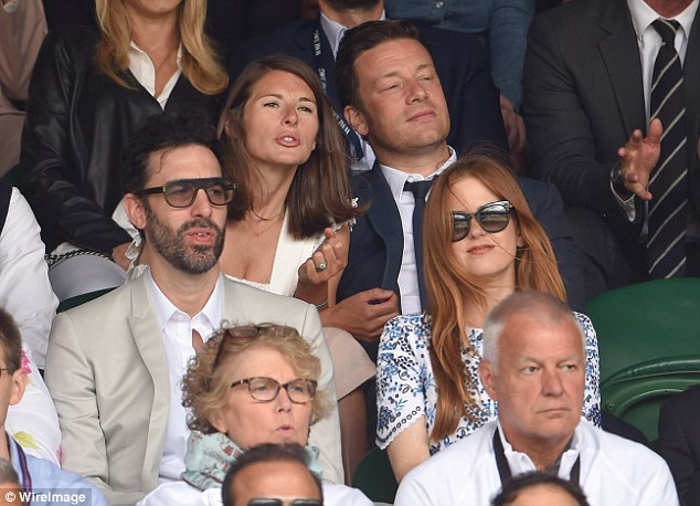 Backseat coach: Jules gets vocal as the action hots up on Centre Court