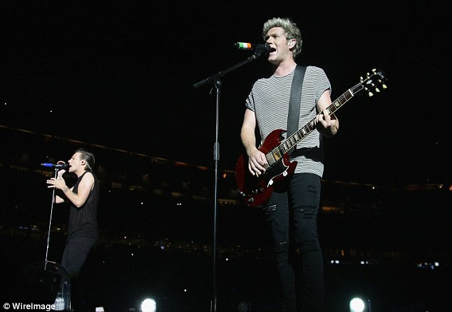 Guitar hero: Niall is the only member of the band who plays an instrument on stage during their tour
