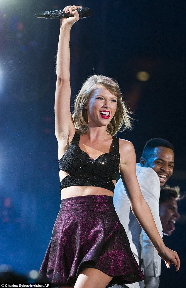 Victorious: Taylor Swift is back on stage as part of her World Tour, fresh from inviting the American women's soccer world cup team up to join her on Friday night