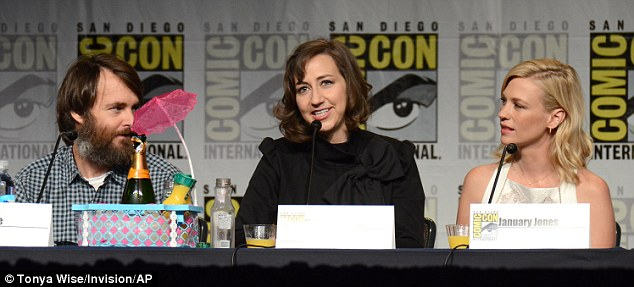 Show talk: Creator and star Will Forte, 45, joined co-stars Kristen Schaal, 37, and January on the panel