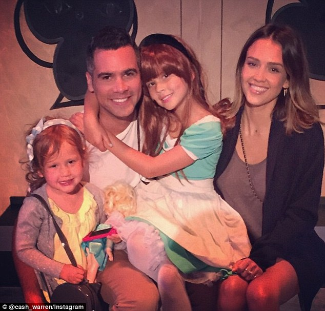 'My big girl in her first summer play': Warren was no doubt proud when he shared a photo of the family during Haven's first performance on Saturday