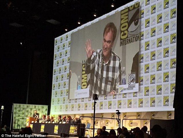 Quentin explained to the audience:'There were certain plot threads that I didn't tie up yet. Even though I yelled and screamed, I continued with my process. It got more public than I wanted it to get'