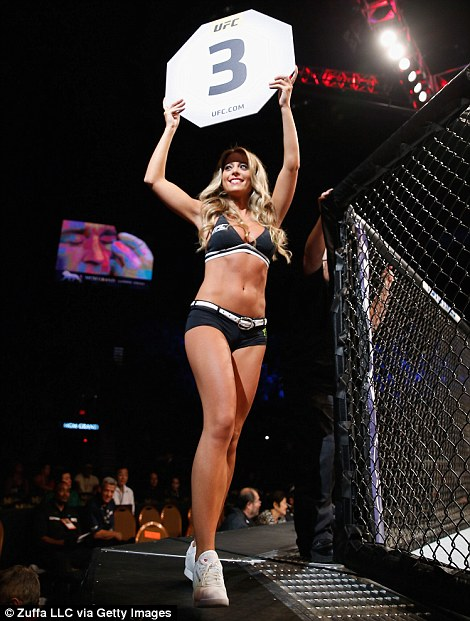 UFC Octagon Girl Carly Baker introduces round three of Seery vs Smolka