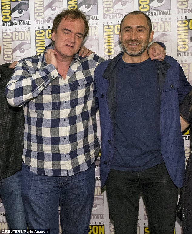 Truly inhabited his character: Tarantino called Demián Bichir - who plays Bob 'The Mexican' - 'an amazing actor' whom his Grindhouse crony Robert Rodriguez recommended