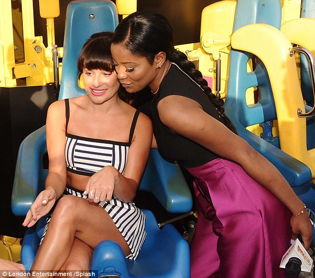 Sitting pretty: Lea and Keke proved that the cast have developed a great bond on set as they cosied up to each other