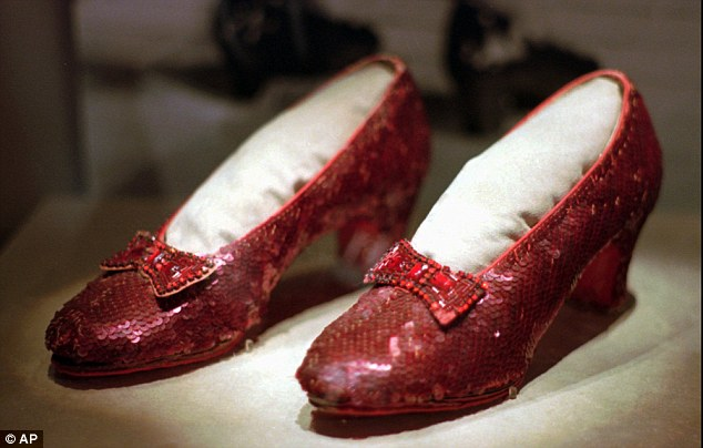 There is a $1million reward for solid info leading to the stolen slippers Judy Garland wore in the Wizard of Oz