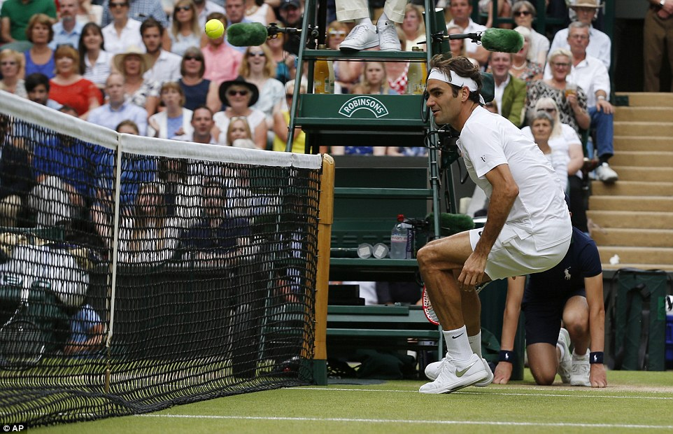 For Federer there was nothing he could do as he watched his hopes of a record-breaking eighth Wimbledon title pass him by