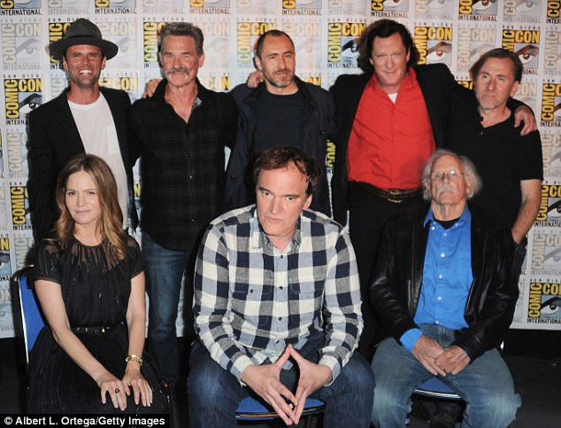 Haters gonna hate! Quentin Tarantino joined seven of his Hateful Eight castmembers for a panel at Comic-Con in San Diego on Saturday