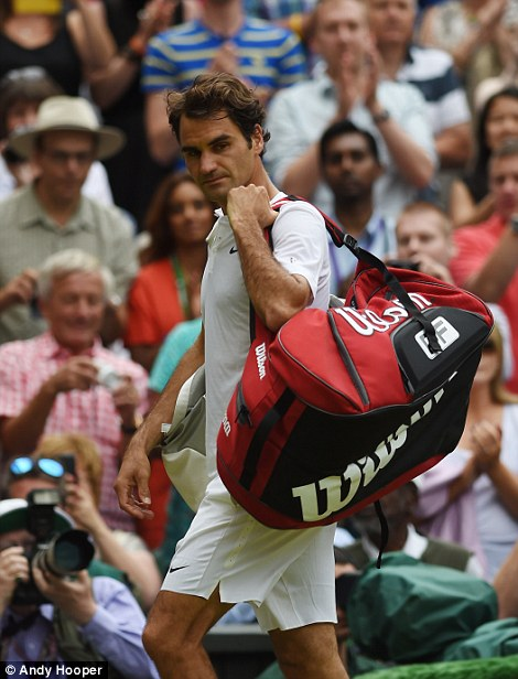 For Federer though his quest for a record-breaking eighth Wimbledon title continues following defeat on Sunday