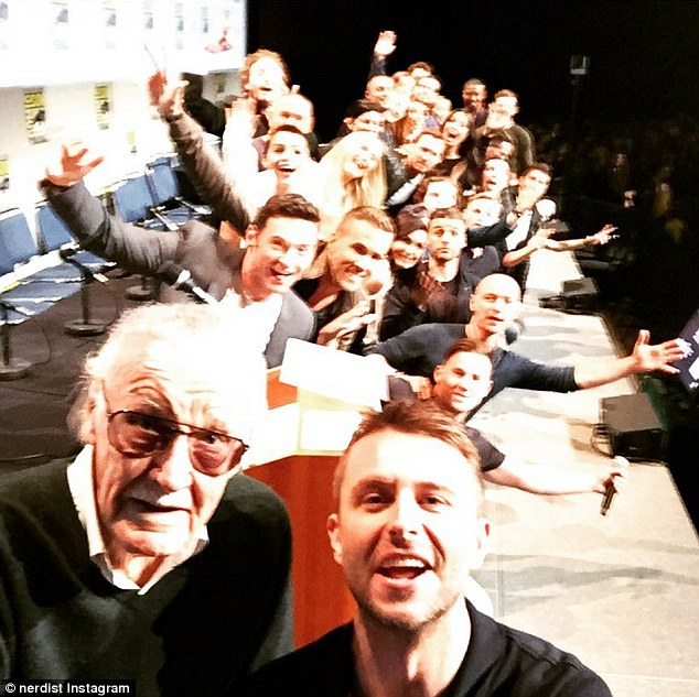 Best ever! The image was taken by Stan Lee and Chris Hardwick and saw the liked of Jennifer Lawrence, Hugh Jackman, Ryan Reynolds and the entire cast of Fantastic Four posing in the snap