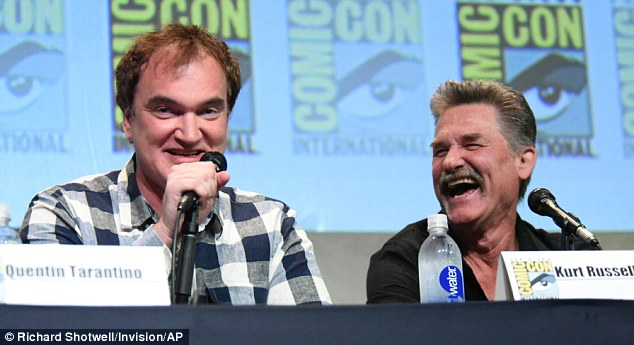 'It's is a circus that you definitely want to be a part of!' Meanwhile, Kurt Russell - who plays bounty hunter John 'The Hangman' Ruth - gushed that Quentin was in a 'league of his own'