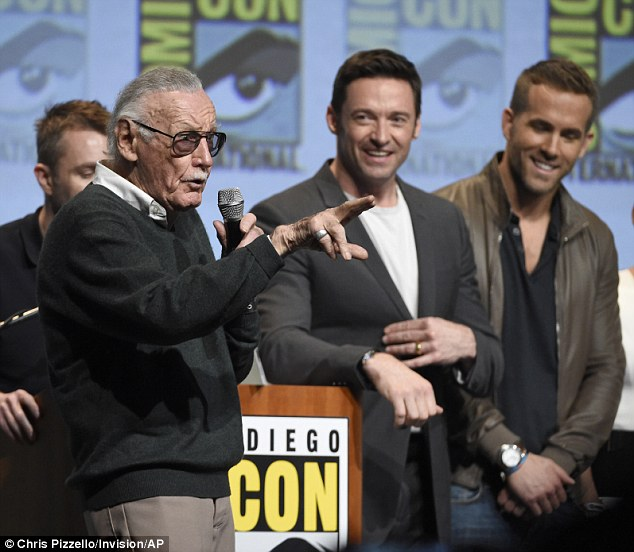 Legend: Stan, a former president and chairman of Marvel, co-created the X-Men, Incredible Hulk and Spider-Man comics - among others