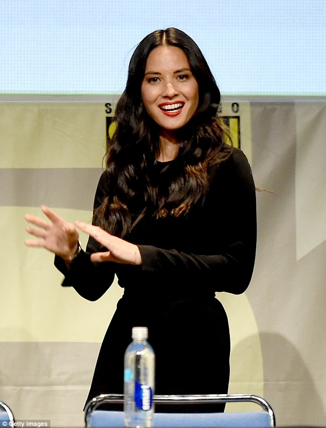 Stunning: Olivia Munn, who is touted to be playing Psylocke, turned out in a tight fitting dress