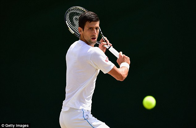 Djokovic was also out hitting at Wimbledon on Saturday as he prepared for the Centre Court showdown