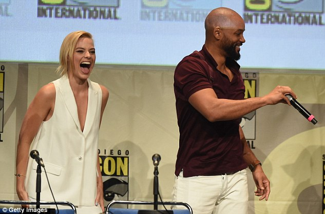 Perfect casting: Margot plays Batman nemesis Harley Quinn with Will Smith taking the role of Deadshot