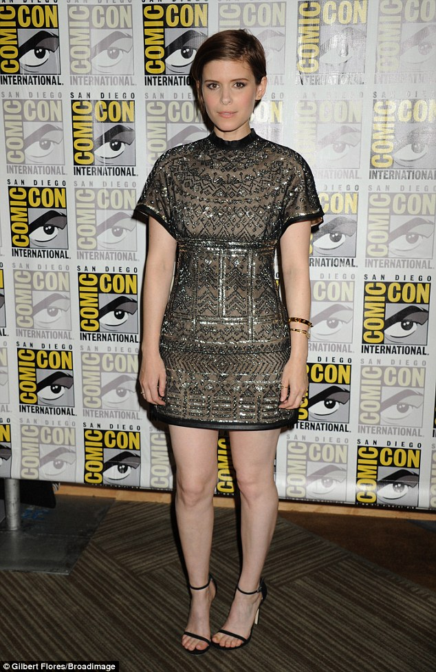 She's a shining star! Mara was hard to miss when she posed at Comic-Con in a glittering dress in San Diego that same day