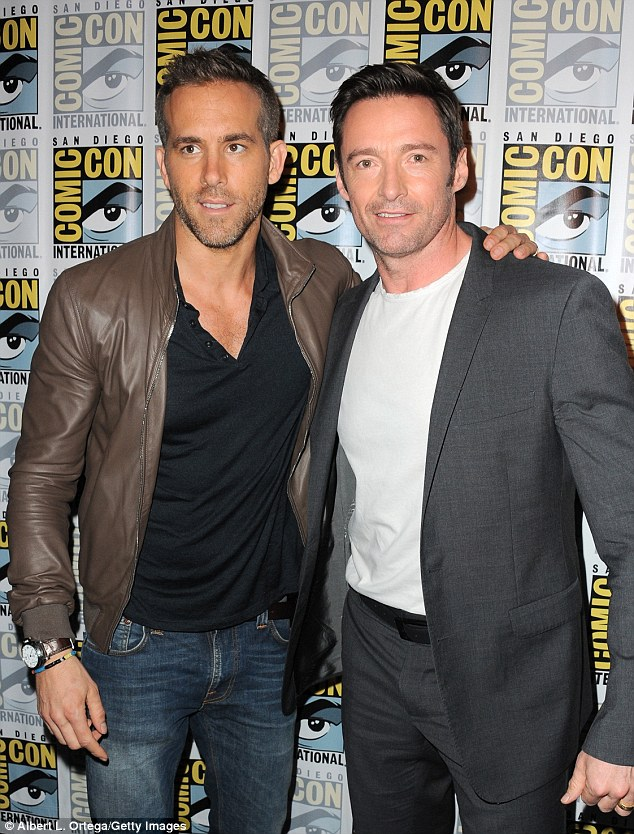 Inspiring fantasies everywhere: Jackman later posed alongside similarly statured Ryan Reynolds
