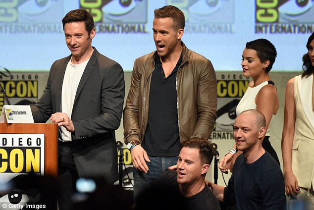 What a line-up: The 20th Century FOX panel was filled with big names