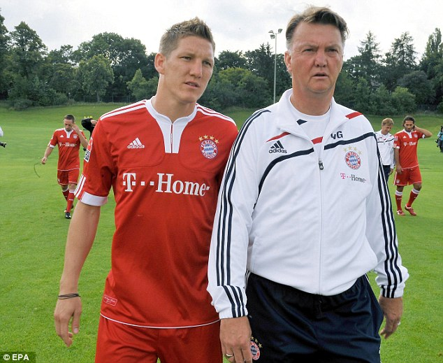Schweinsteiger will be reunited with Louis van Gaal, who coached him at Bayern between 2009 and 2011