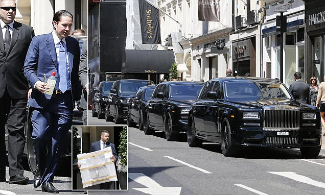 Art dealer James Stunt goes on a shopping spree at Sotheby's London