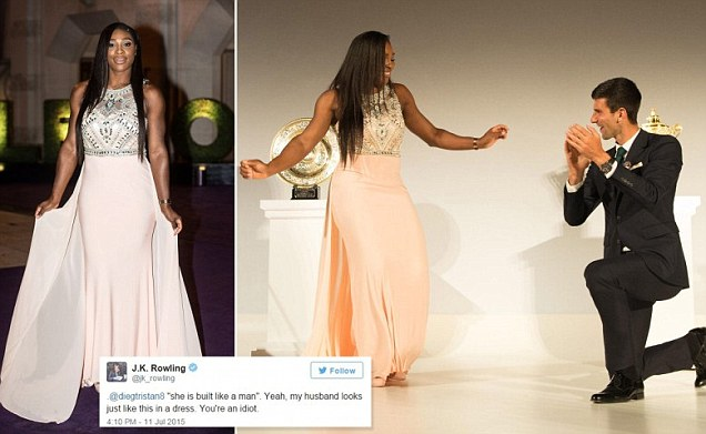 Serena Williams wows at Wimbledon champions' dinner alongside Novak Djokovic