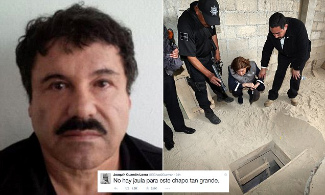Mexican drug lord Joaquin 'El Chapo' Guzman taunts the world after his escape from prison