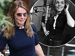 EXCLUSIVE: Geri Halliwell spent 6.5 hours at Air Studios to finish the last two songs for her new album.  The former Spice girl arrived at 1.30pm to lay down the tracks for her new forthcoming album which she said she was excited and nervous.  Shortly after 7pm, Geri came outside with a big smile as she walked her dog to the car that her F1 boss husband bought for her .  - London    Pictured: Geri Halliwell Ref: SPL1078138  140715   EXCLUSIVE Picture by: Ian Lawrence / Splash News  Splash News and Pictures Los Angeles: 310-821-2666 New York: 212-619-2666 London: 870-934-2666 photodesk@splashnews.com