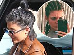 Beverly Hills, CA - Kylie Jenner gets pampered at Nail Bar and Beauty Lounge in Beverly Hills, she wore a white tee with a brown leather jacket on top, skinny jeans and gray heels.  AKM-GSI     July 13, 2015 To License These Photos, Please Contact : Steve Ginsburg (310) 505-8447 (323) 423-9397 steve@akmgsi.com sales@akmgsi.com or Maria Buda (917) 242-1505 mbuda@akmgsi.com ginsburgspalyinc@gmail.com