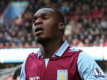 31st March 2013 - Barclays Premier League - Aston Villa v Liverpool - Christian Benteke of Villa - Photo: Simon Stacpoole / Offside.