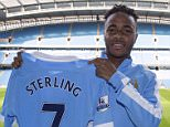 Manchester City FC via Press Association Images MINIMUM FEE 40GBP PER IMAGE - CONTACT PRESS ASSOCIATION IMAGES FOR FURTHER INFORMATION. Raheem Sterling signs for Manchester City