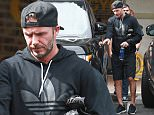 Picture Shows: David Beckham  July 15, 2015\n \n Soccer legend David Beckham leaves the Soul Cycle gym after a morning workout in Brentwood, California. Even though he retired from professional play two years ago, David is keeping in top notch shape with his strict gym regiment.\n \n Non-Exclusive\n UK RIGHTS ONLY\n \n Pictures by : FameFlynet UK © 2015\n Tel : +44 (0)20 3551 5049\n Email : info@fameflynet.uk.com