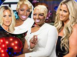 WATCH WHAT HAPPENS LIVE -- Pictured (l-r): NeNe Leakes and Kim Zolciak -- (Photo by: Charles Sykes/Bravo/NBCU Photo Bank via Getty Images)